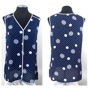 Halogen - Spotted Sleeveless Shell Top